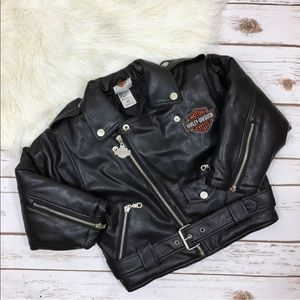 Harley Davidson Faux Leather Embroidered Jacket